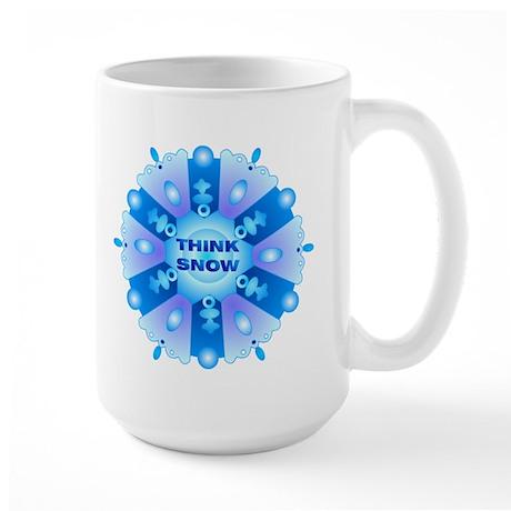 Think Snow Flake Large Mug