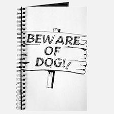 Cute Beware of dog sign Journal