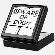 Unique Caution Keepsake Box