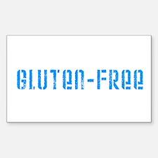 gluten-free (blue) Rectangle Decal