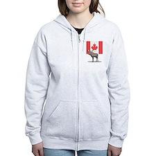 Canadian Flag with Moose Zip Hoodie