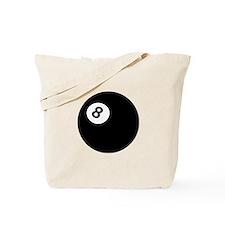 black billiard ball Tote Bag