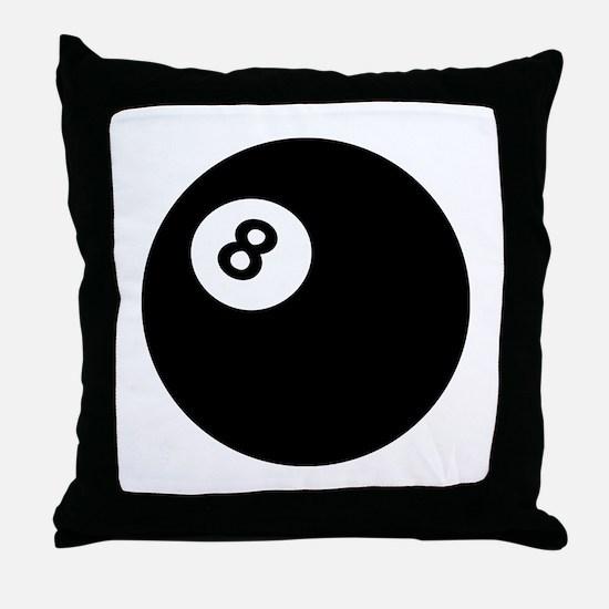 black billiard ball Throw Pillow