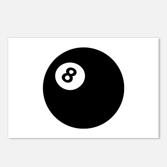 black billiard ball Postcards (Package of 8)