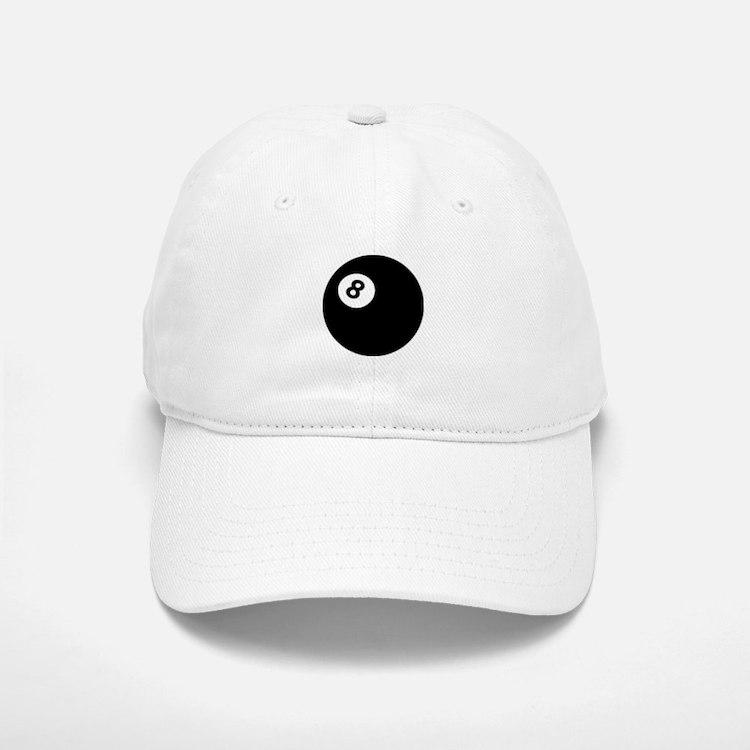 black billiard ball Baseball Baseball Cap
