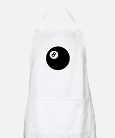 black billiard ball BBQ Apron