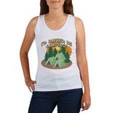 I'D RATHER BE CAMPING! Women's Tank Top