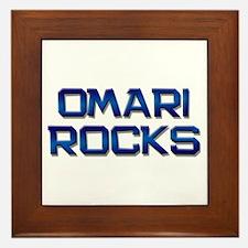 omari rocks Framed Tile