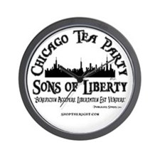 Chicago Tea Party Wall Clock