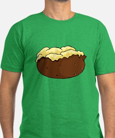 Baked potato Men's Fitted T-Shirt (dark)