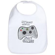 Daddy Plays Games! Bib