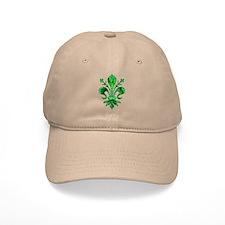 Irish Green Fleur de lis Baseball Cap