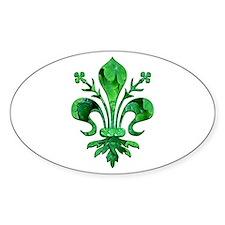 Irish Green Fleur de lis Decal