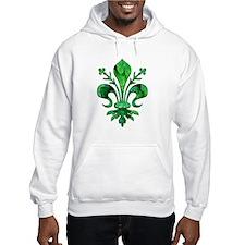 Irish Green Fleur de lis Hoodie