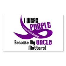 I Wear Purple (Uncle) 33 PC Rectangle Decal