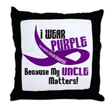 I Wear Purple (Uncle) 33 PC Throw Pillow