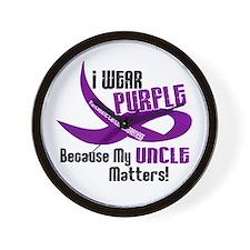 I Wear Purple (Uncle) 33 PC Wall Clock