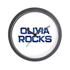 olivia rocks Wall Clock