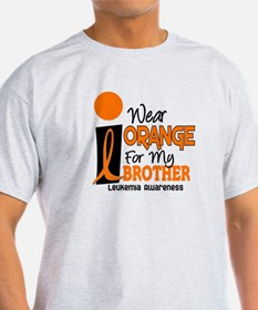 I Wear Orange For My Brother 9 Leukemia T-Shirt