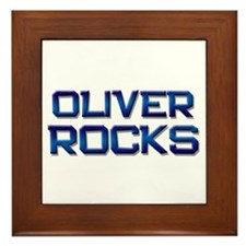 oliver rocks Framed Tile
