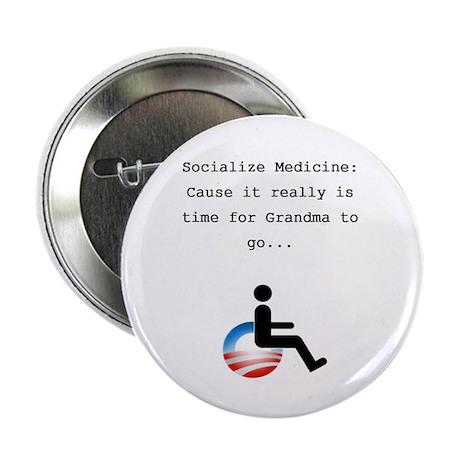 """Socialize Medicine Conserva - T 2.25"""" Button"""