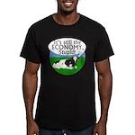 Still the Economy Stupid Cow Black T-Shirt