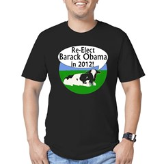 Cow: Re-Elect Obama 2012 Black T-Shirt