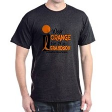 I Wear Orange For My Grandson 9 Leukemia T-Shirt