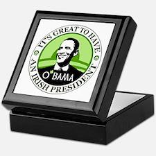 Obama St. Patricks Day Keepsake Box