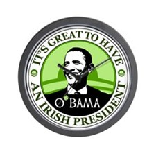 Obama St. Patricks Day Wall Clock