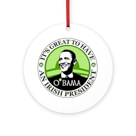 Obama St. Patricks Day Ornament (Round)