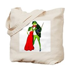 St Patricks Day FROGS Go GREEN Tote Bag