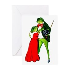 St Patricks Day FROGS Frog Lovers Greeting Card