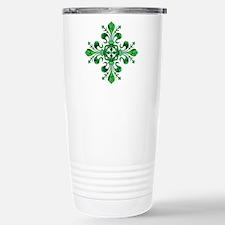 Irish Green Fleur de li Travel Mug