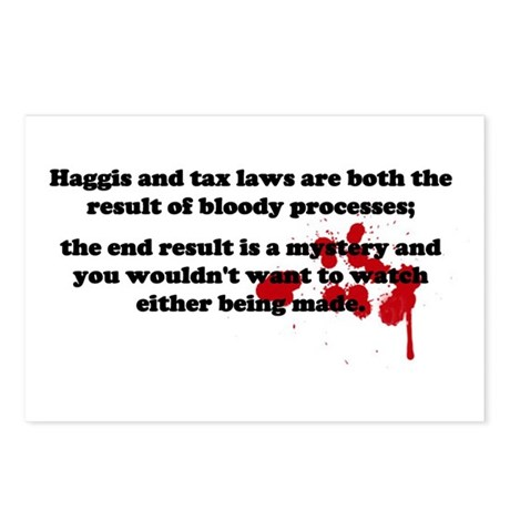 Haggis and Taxes Postcards (Package of 8)
