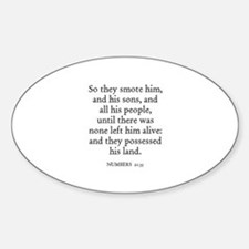 NUMBERS 21:35 Oval Decal