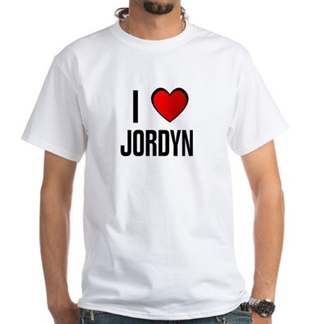 I LOVE JORDYN White T-Shirt