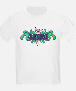 Janice's Butterfly Name Kids T-Shirt