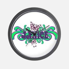 Janice's Butterfly Name Wall Clock