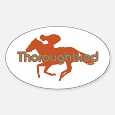 Thoroughbred Horse Oval Decal