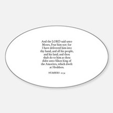 NUMBERS 21:34 Oval Decal