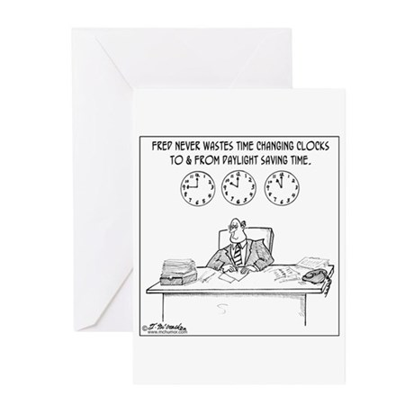 Never Change to DST Greeting Cards (Pk of 10)