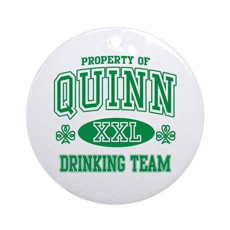 Quinn Irish Drinking Team Ornament (Round)