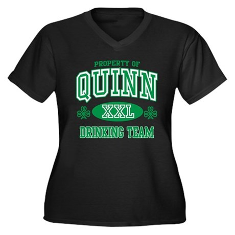 Quinn Irish Drinking Team Women's Plus Size V-Neck