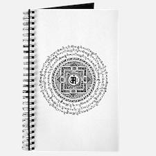 Blk Mantra Mandala Journal