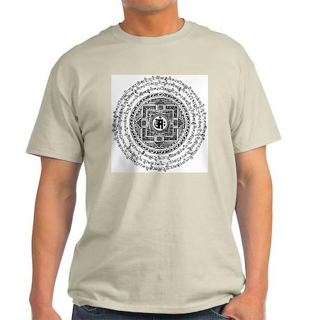 Blk Mantra Mandala Ash Grey T-Shirt