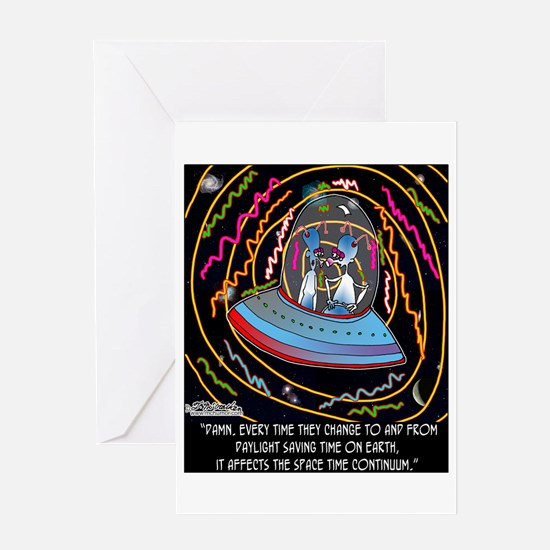 DST & the Space Time Continuum Greeting Card