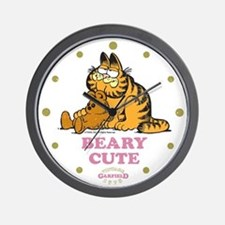 Beary Cute Garfield and Pooky Wall Clock