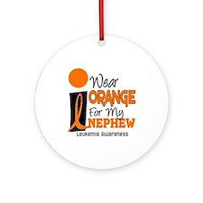 I Wear Orange For My Nephew 9 Leukemia Ornament (R