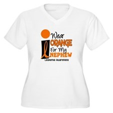 I Wear Orange For My Nephew 9 Leukemia T-Shirt